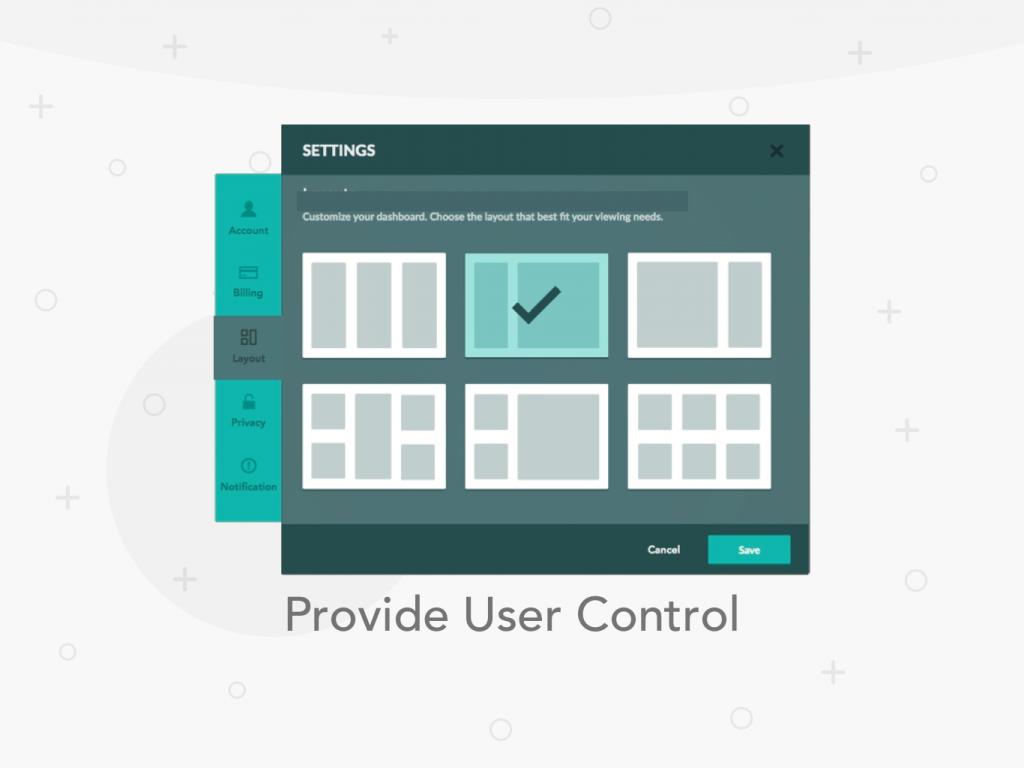 Provide User Control