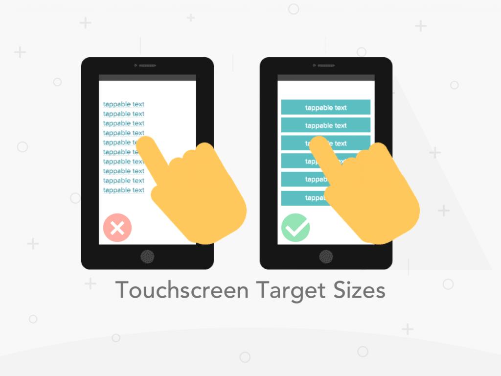Touchscreen Target Sizes