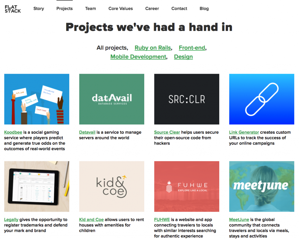 Flat Stack's project page
